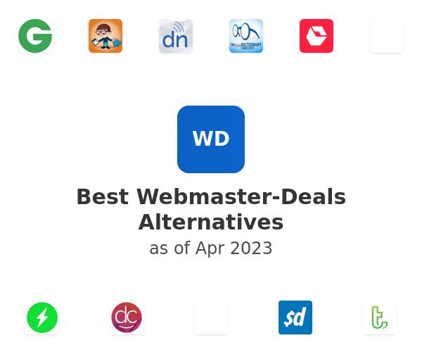 Best Webmaster-Deals Alternatives