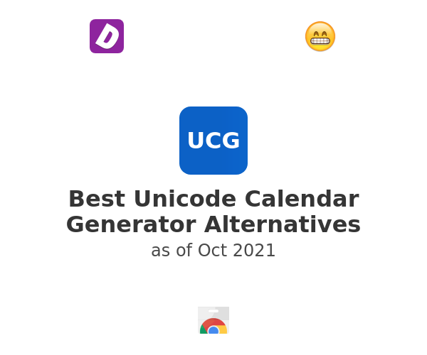 Best Unicode Calendar Generator Alternatives