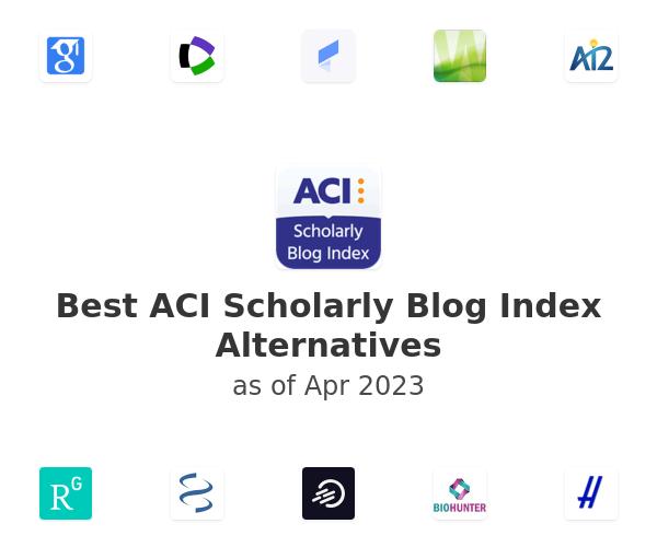 Best ACI Scholarly Blog Index Alternatives