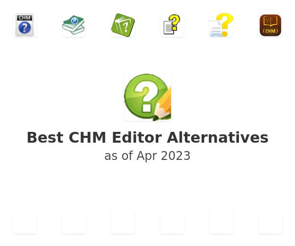 Best CHM Editor Alternatives