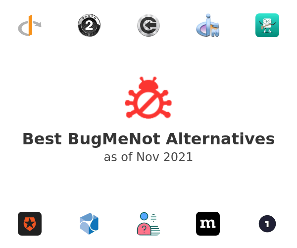 Best BugMeNot Alternatives