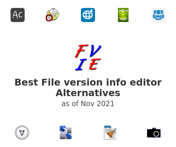 Best File version info editor Alternatives