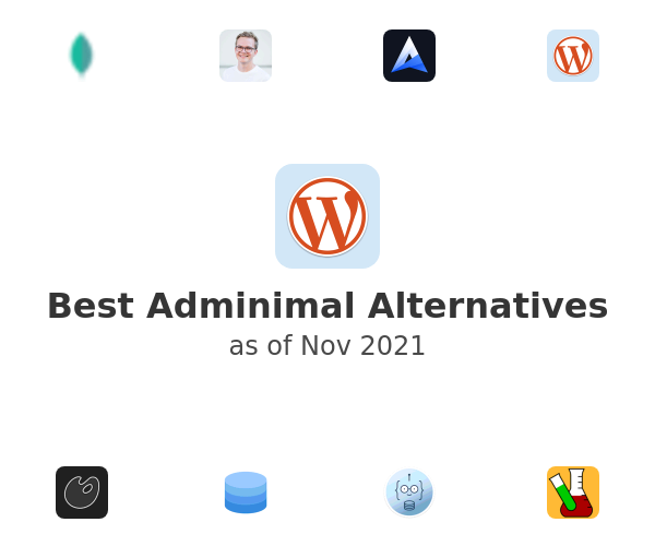 Best Adminimal Alternatives