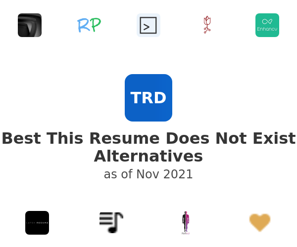 Best This Resume Does Not Exist Alternatives