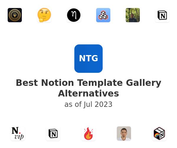 Best Notion Template Gallery Alternatives