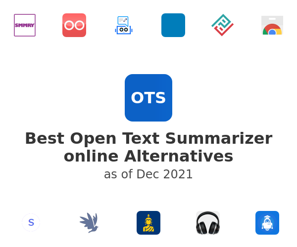 Best Open Text Summarizer online Alternatives