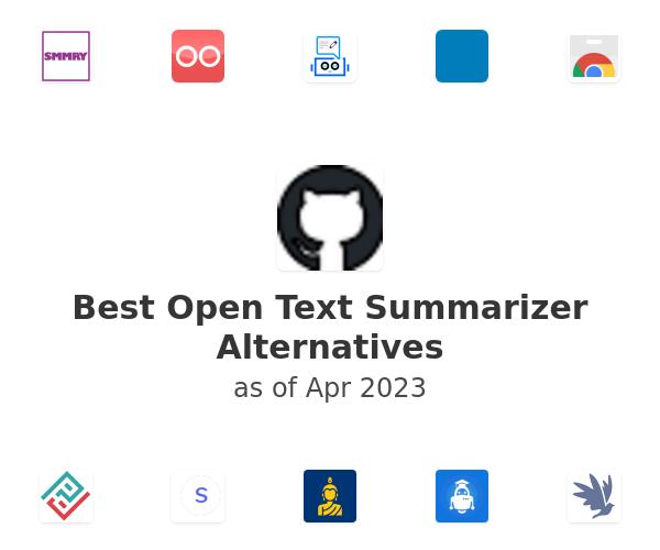 Best Open Text Summarizer Alternatives