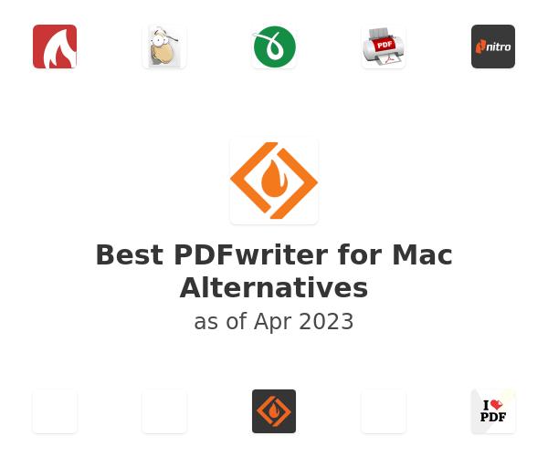 Best PDFwriter for Mac Alternatives