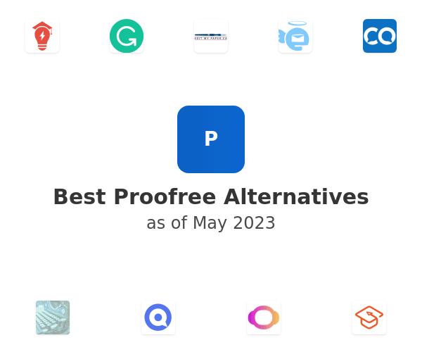 Best Proofree Alternatives