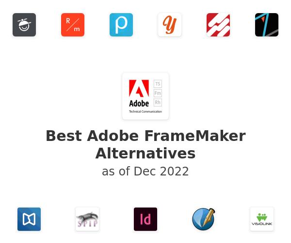 Best Adobe FrameMaker Alternatives