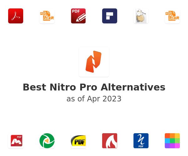 Best Nitro Pro Alternatives