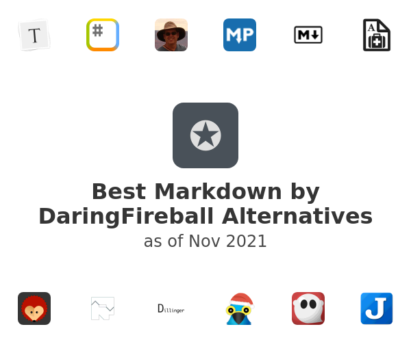 Best Markdown by DaringFireball Alternatives