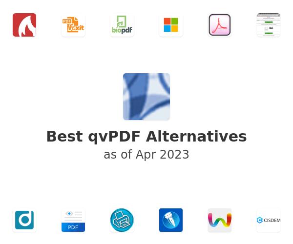 Best qvPDF Alternatives
