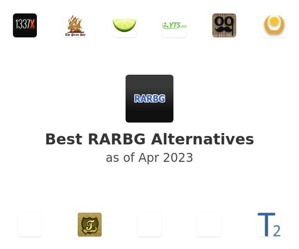 Best RARBG Alternatives