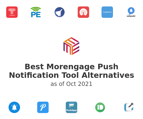 Best Morengage Push Notification Tool Alternatives