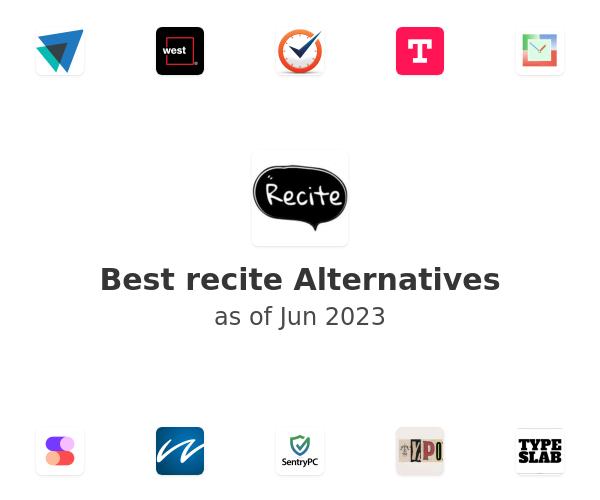 Best recite Alternatives
