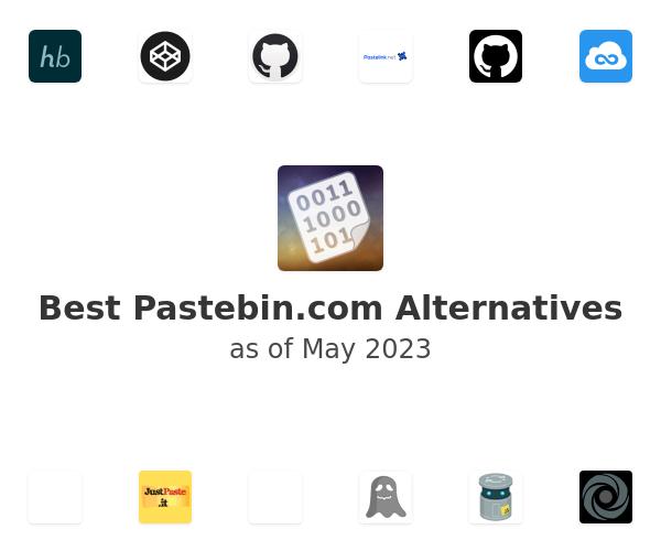 Best Pastebin.com Alternatives