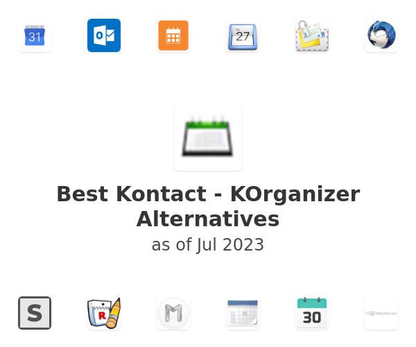 Best Kontact - KOrganizer Alternatives