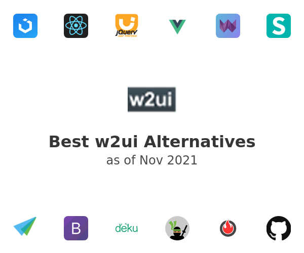 Best w2ui Alternatives