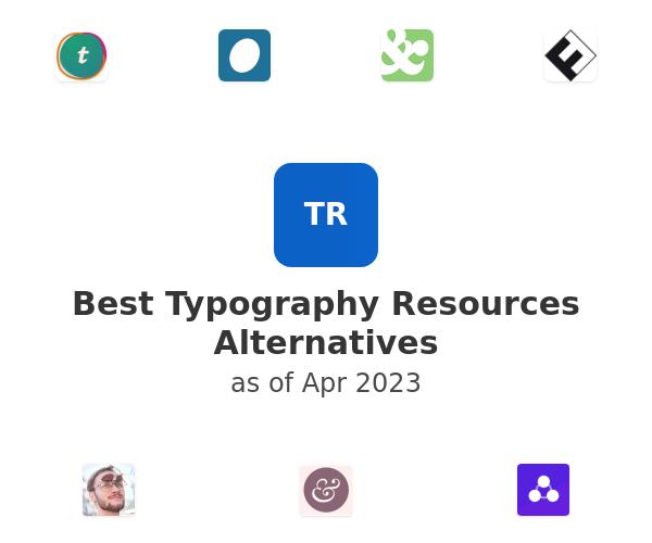 Best Typography Resources Alternatives