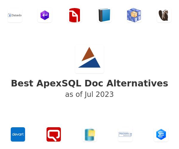 Best ApexSQL Doc Alternatives