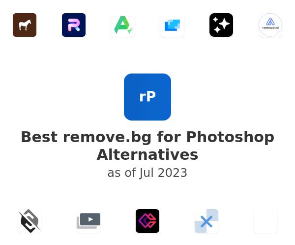Best remove.bg for Photoshop Alternatives
