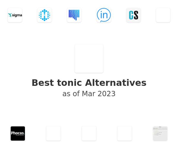 Best tonic Alternatives