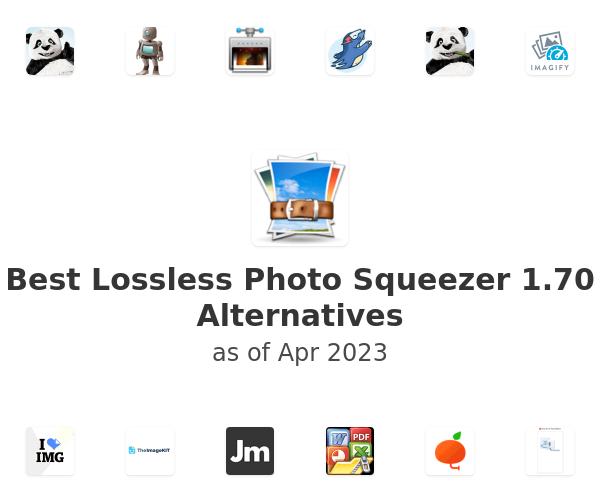 Best Lossless Photo Squeezer 1.70 Alternatives