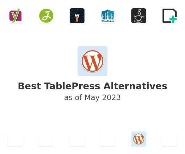 Best TablePress Alternatives