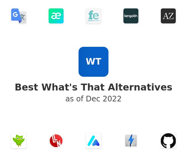 Best What's That Alternatives