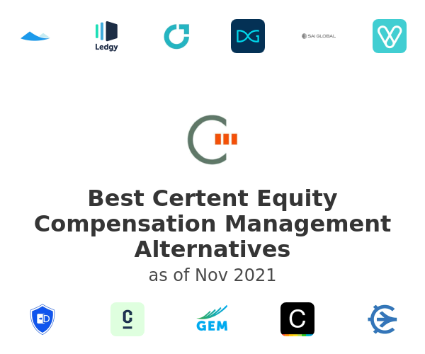 Best Certent Equity Compensation Management Alternatives
