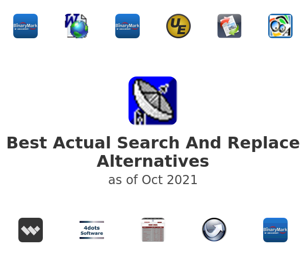 Best Actual Search And Replace Alternatives