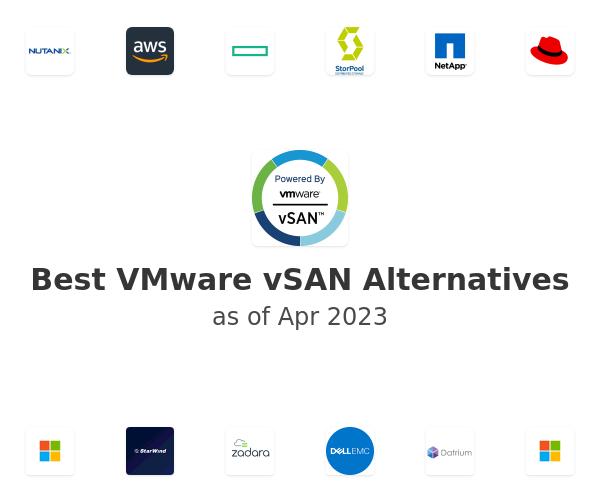 Best VMware vSAN Alternatives