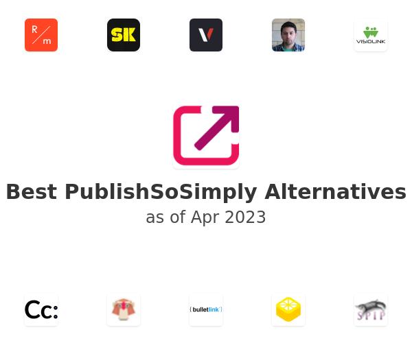 Best PublishSoSimply Alternatives