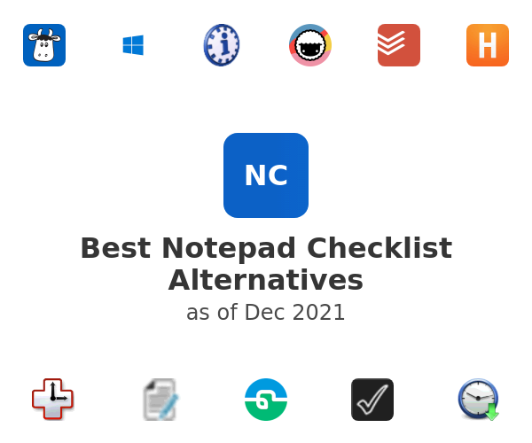 Best Notepad Checklist Alternatives