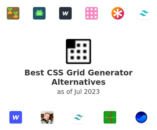 Best CSS Grid Generator Alternatives