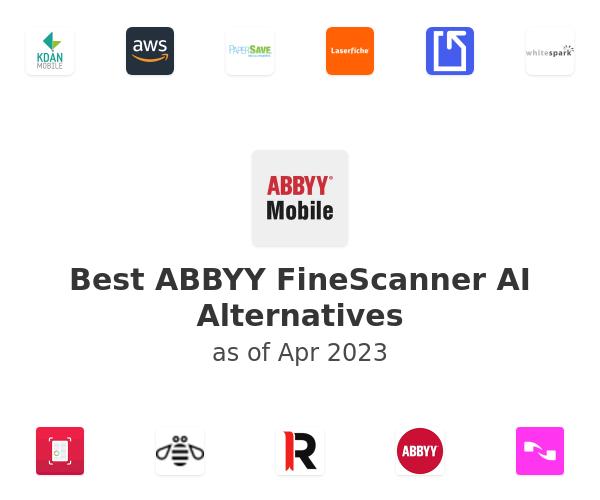 Best ABBYY FineScanner AI Alternatives