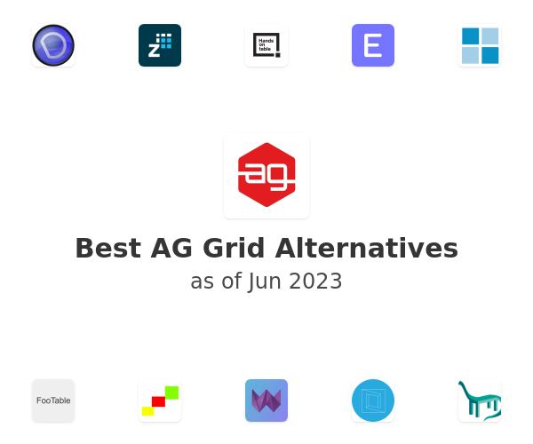 Best ag-Grid Alternatives