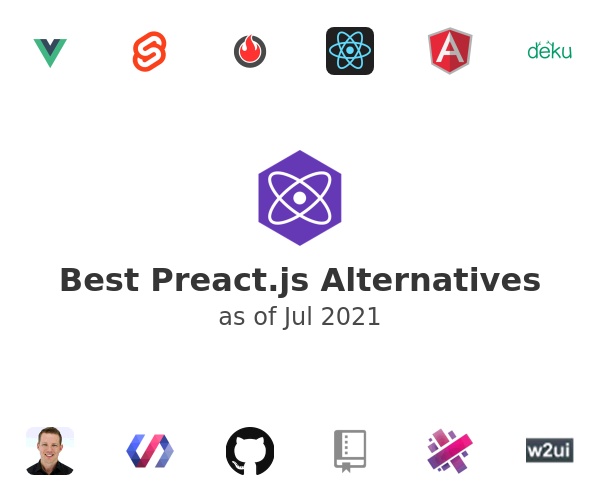 Best Preact.js Alternatives