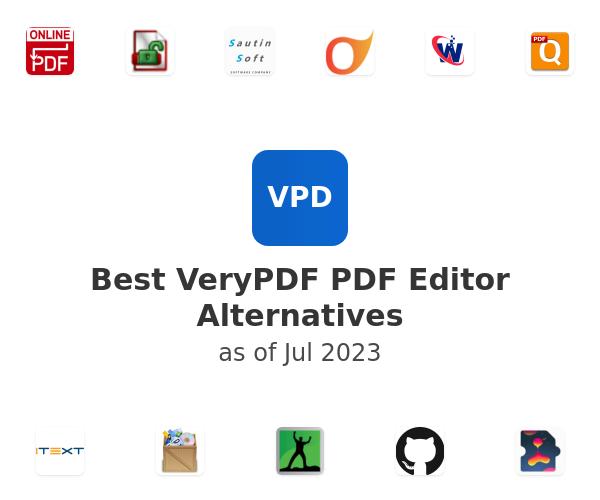 Best VeryPDF PDF Editor Alternatives