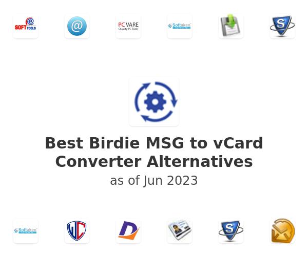 Best Birdie MSG to vCard Converter Alternatives