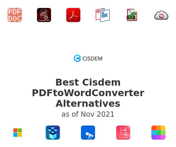 Best Cisdem PDFtoWordConverter Alternatives