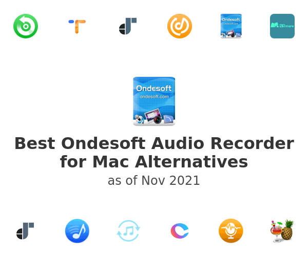 Best Ondesoft Audio Recorder for Mac Alternatives