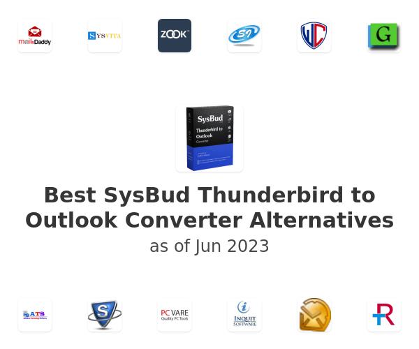 Best SysBud Thunderbird to Outlook Converter Alternatives