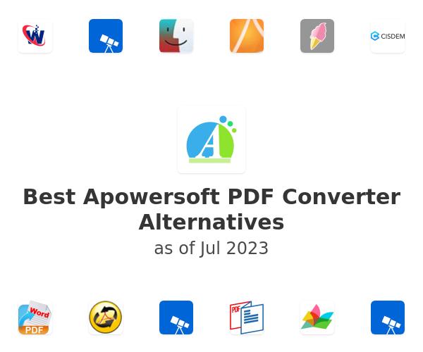 Best Apowersoft PDF Converter Alternatives