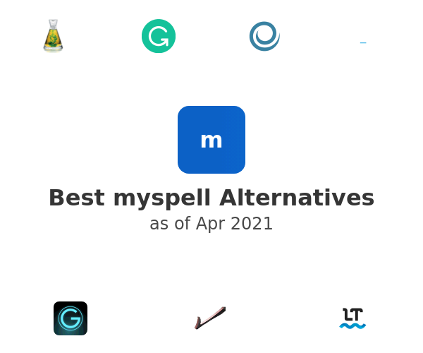 Best myspell Alternatives