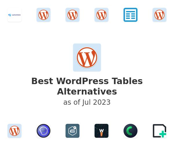 Best WordPress Tables Alternatives