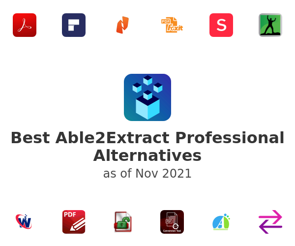 Best Able2Extract Professional Alternatives