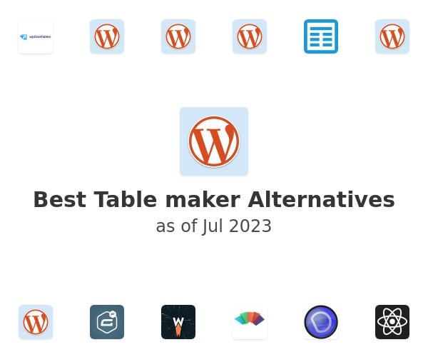 Best Table maker Alternatives