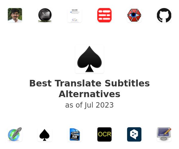 Best Translate Subtitles Alternatives